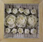 Bouquet de 13 Roses blanches