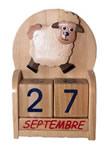 Calendrier en bois Mouton