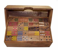 jeu de domino Double-quinze en bois