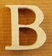 Lettres en bois Lettre B