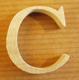 Lettres en bois Lettre C
