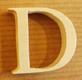 Lettres en bois Lettre D