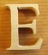 Lettres en bois Lettre E