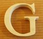 Lettres en bois Lettre G