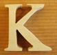 Lettres en bois Lettre K