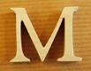 Lettres en bois Lettre M