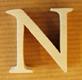 Lettres en bois Lettre N