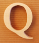 Lettres en bois Lettre Q