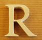 Lettres en bois Lettre R