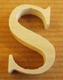 Lettres en bois Lettre S