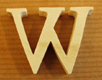 Lettres en bois Lettre W