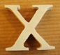 Lettres en bois Lettre X