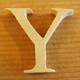 Lettres en bois Lettre Y
