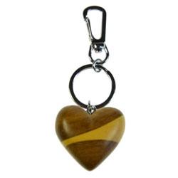 Porte-clé en bois Coeur 2