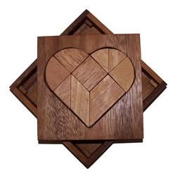 Casse-tête Tangram Coeur