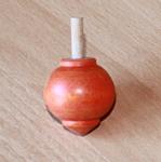 Toupie en buis Planète couleur orange