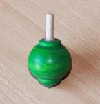 Toupie en buis Planète couleur verte