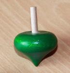 Toupie en buis Coeur couleur verte