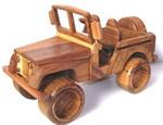 Jeep en bois de Teck