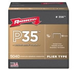 Agrafes P35 Pattes 6mm galvanisées pour agrafeuse P35