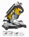 Scie à onglet bois Ø210 mm légère + table supérieure - 230V 1200W TR077