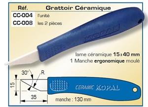 Grattoir céramique 15 x 40mm
