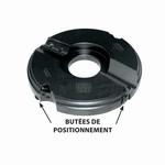 Porte-outils plate-bande multi-profils position inférieure