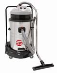 Aspirateur eau et poussière INOX + chariot 70L LEMAN