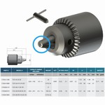 Mandrin de perçage de précision auto-serrant - Inox SP