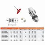 Mandrin de perçage de précision à clé monobloc DIN-69893-A (HSK) HEXA