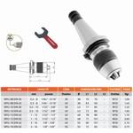 Mandrin de perçage de précision auto-serrant monobloc DIN-2080 (DIN) + clé NPU
