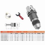 Mandrin de perçage de précision auto-serrant monobloc DIN-69893-A (HSK) + clé NPU
