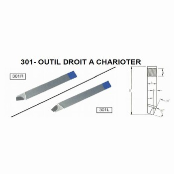 Outils droit a charioter Iso 301