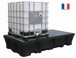 Bac de rétention pour 1 ou 2 conteneurs avec caillebotis acier galvanisé - 1000L