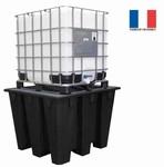 Bac de rétention pour 1 conteneur avec caillebotis acier galvanisé à chaud - 1100L