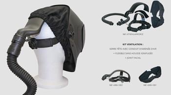 Kit ventilation Air force pour masque Wuithom