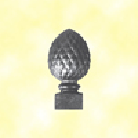 Pommeau pigne fonte H143mm