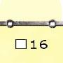 Barre trous renflés �16x16mm  14trous 16x�16mm