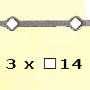 Barre trous renflés �14 3x�14