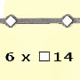 Barre trous renflés �14 6x�14