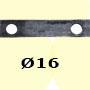 Barre poinçonnée 40x8 15 trous Ø16