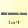 Barre poinçonnée 30x8mm 13 trous ø15mm longueur 190cm pour clôtures et grilles