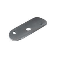 Platine support acier 60x25mm epr 2mm pour tube diametre 42,4mm