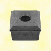 Crapaudine aluminium 40x40mm Ø12mm