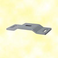 Platine emboutie 160x65mm en acier support de pivot crapaudine