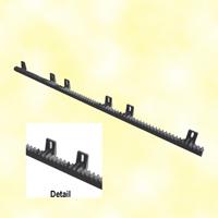 Crémaillère polyamide renforcé 1020mm 6 fixations