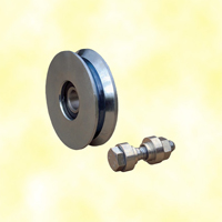 Roulette Ø80mm en V