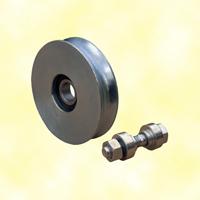 Roulette acier Ø120mm en U