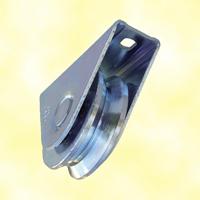 Roulette acier à visser à gorge en V Ø60mm