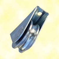 Roulette acier à visser à gorge en U Ø60mm